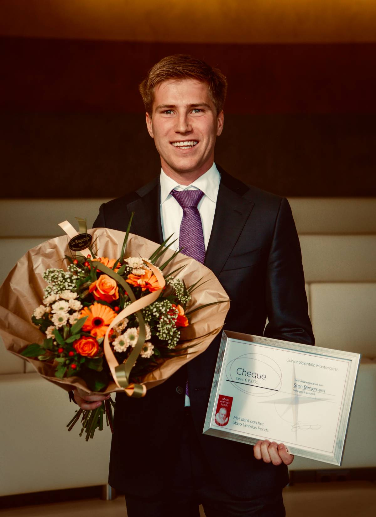 Stan Benjamens wint Junior Scientific Masterclass Talent Grant